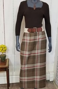 Charter Club plaid wrap skirt